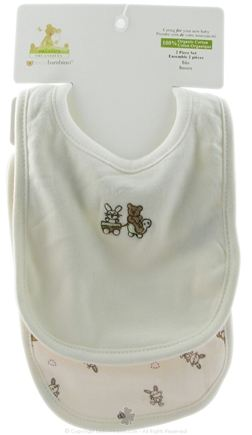 DROPPED: Piccolo Bambino - Organic Cotton Bib Set Ivory - WINTER SPECIAL