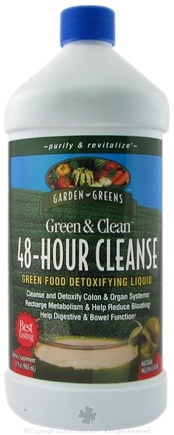 DROPPED: Garden Greens - Green & Clean 48-Hour Cleanse Green Food Detoxifying Liquid Natural Melon Flavor - 32 oz.