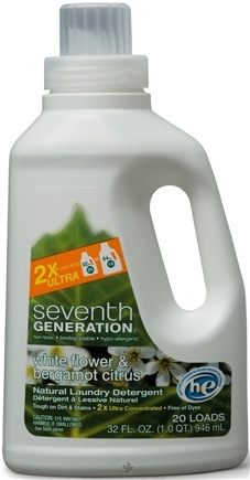 DROPPED: Seventh Generation - 2x Liquid Laundry Detergent White Flower & Bergamot Citrus - 32 oz.
