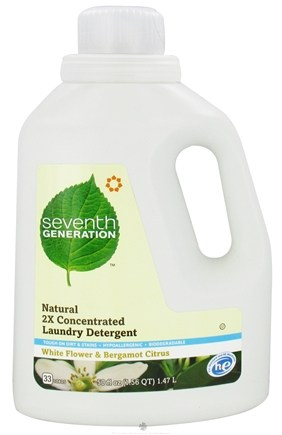 DROPPED: Seventh Generation - 2x Liquid Laundry Detergent White Flower & Bergamot Citrus - 50 oz. CLEARANCE PRICED