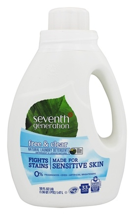 Seventh Generation - 2x Liquid Laundry Detergent Free & Clear - 50 oz.