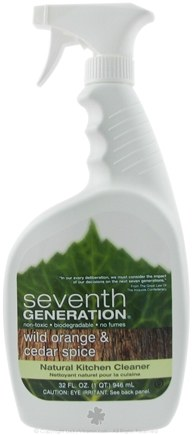 DROPPED: Seventh Generation - Kitchen Cleaner Wild Orange & Cedar Spice - 32 oz.