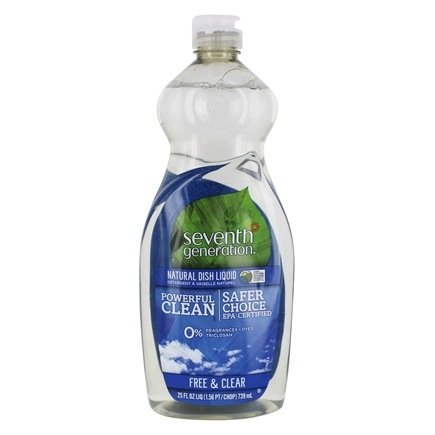 Seventh Generation - Dish Washing Liquid Free & Clear - 25 oz.