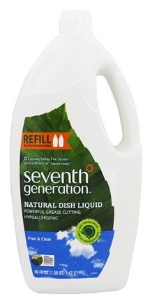 Seventh Generation - Dish Washing Liquid Free & Clear - 50 oz.