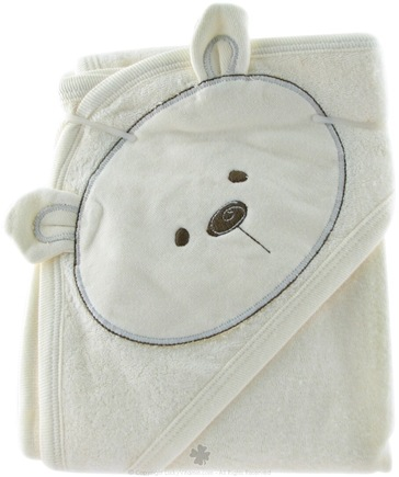 DROPPED: Piccolo Bambino - Organic Hooded Bear Towel Blue - CLEARANCE PRICED