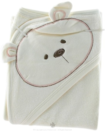 DROPPED: Piccolo Bambino - Organic Hooded Bear Towel Pink - CLEARANCE PRICED