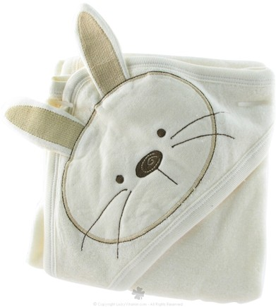 DROPPED: Piccolo Bambino - Organic Hooded Bunny Towel Ivory - CLEARANCE PRICED