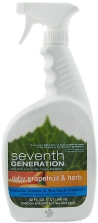 DROPPED: Seventh Generation - Glass Surface Cleaner Ruby Grapefruit & Herb - 32 oz. CLEARANCE PRICED