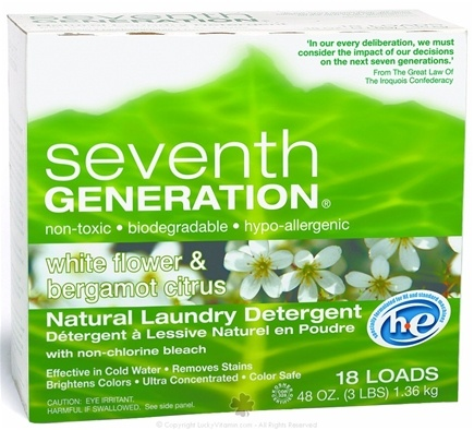 DROPPED: Seventh Generation - Ultra Laundry Powder White Flower & Bergamot Citrus - 48 oz. CLEARANCE PRICED