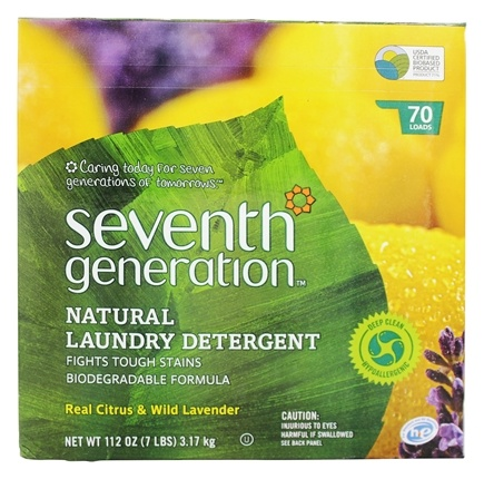 Seventh Generation - Natural Laundry Detergent Real Citrus & Wild Lavender - 112 oz.