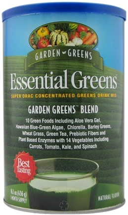 DROPPED: Garden Greens - Essential Greens Super ORAC Concentrated Greens Drink Mix Garden Greens Blend Natural Flavor - 456 Grams