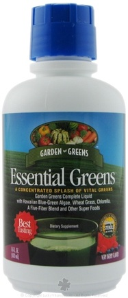 DROPPED: Garden Greens - Essential Greens Concentrated Splash of Vital Greens Very Berry Flavor - 16 oz.
