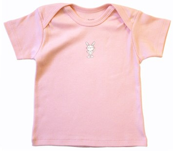 DROPPED: Piccolo Bambino - Organic T-Shirt 6-9 Months Pink - CLEARANCE PRICED
