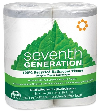 DROPPED: Seventh Generation - Bathroom Tissues 100% Recycled 2 Ply 300 Sheets - 4 Roll(s) CLEARANCE PRICED