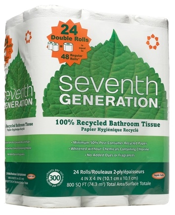 DROPPED: Seventh Generation - Bathroom Tissues 100% Recycled 2 Ply 260 Sheets - 24 Roll(s)