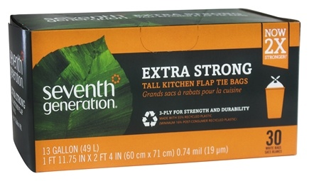 Seventh Generation - Tall Kitchen Trash Bags 13 Gallon - 30 Bags