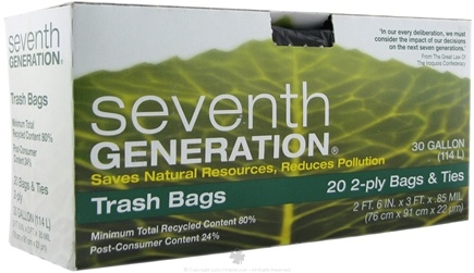 DROPPED: Seventh Generation - Trash Bags 30 Gallon - 20 Bags