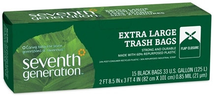 DROPPED: Seventh Generation - Trash Bags Large 33 Gallon - 15 Bags CLEARANCE PRICED