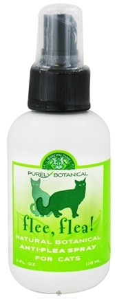 DROPPED: Dancing Paws - Purely Botanical Flee, Flea! Natural Anti-Flea Spray for Cats - 4 oz.