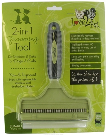 DROPPED: Love2Pet - Love 2 Pet 2-in-1 Grooming Tool Jumbo Size