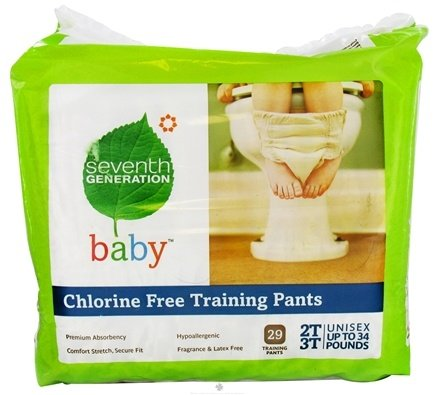 DROPPED: Seventh Generation - Chlorine Free Training Pants 2T-3T (up to 34 lb.) 29 Pack - CLEARANCE PRICED