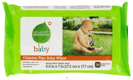DROPPED: Seventh Generation - Chlorine Free Baby Wipes Travel Pack - 36 Wipe(s)