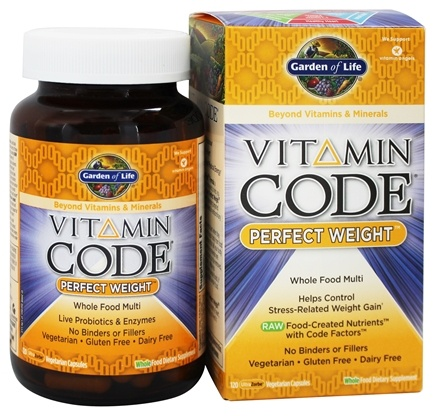 Garden of Life - Vitamin Code Perfect Weight Formula - 120 Vegetarian Capsules LUCKY PRICE