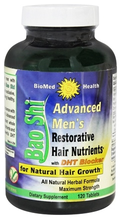 BioMed Health - Advanced Men's Bao Shi Restorative Hair Nutrients - 120 Caplets