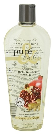 DROPPED: Pure & Basic - Natural Bath and Body Wash Pomegranate Ginger - 12 oz. CLEARANCE PRICED