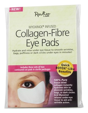 Reviva Labs - Myoxinol Infused Collagen-Fibre Eye Pads - 3 Pack(s)