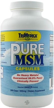 DROPPED: Trimedica - Pure MSM 500mg - 500 Capsules