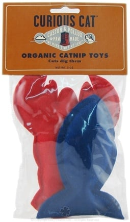 DROPPED: Castor & Pollux - Curious Cat Organic Catnip Toy Sea 2 Pack