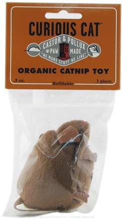 DROPPED: Castor & Pollux - Curious Cat Organic Catnip Toy Brown Mouse