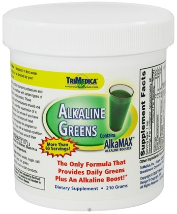 DROPPED: Trimedica - Alkaline Greens with AlkaMax Powder - 210 Grams