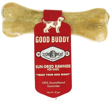 DROPPED: Castor & Pollux - Good Buddy Sun-Dried Rawhide Pressed Bone For Dogs - 4.5 in. Formerly Wet Nose Rawhide - CLEARANCE