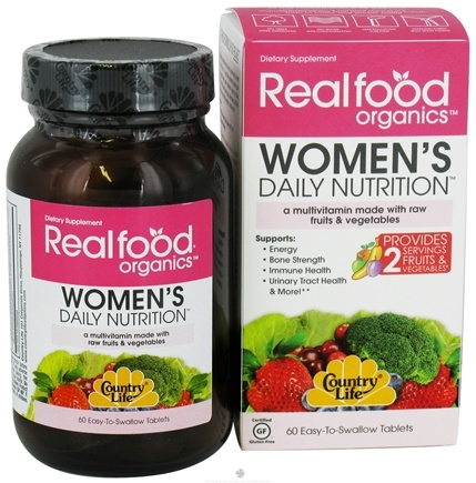 DROPPED: Country Life - Real Food Organics Women's Daily Nutrition - 60 Tablets