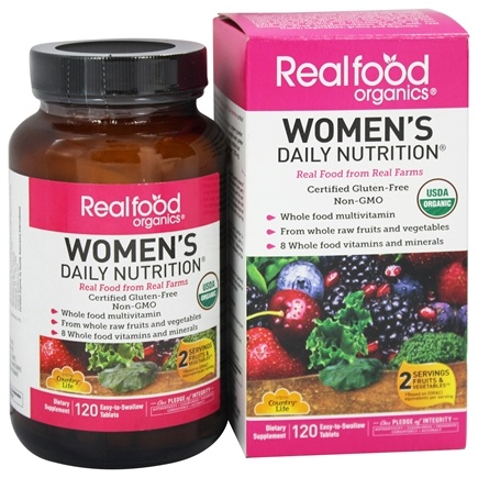 Country Life - Real Food Organics Women's Daily Nutrition - 120 Tablets LUCKY DEAL