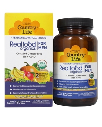 Country Life - Real Food Organics Men's Daily Nutrition - 120 Tablets LUCKY DEAL