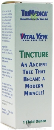 DROPPED: Trimedica - Vital Yew Tincture - 1 oz. CLEARANCE PRICED