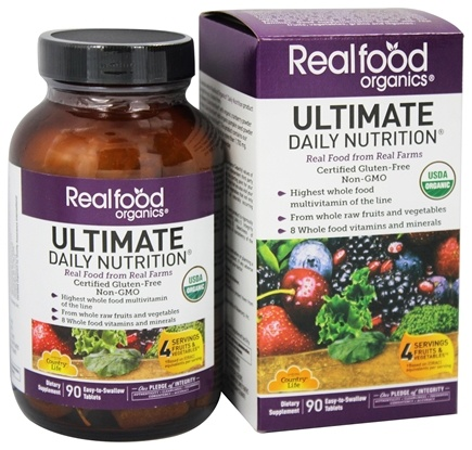 Country Life - Real Food Organics Ultimate Daily Nutrition - 90 Tablets