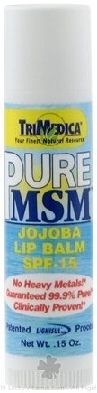 DROPPED: Trimedica - Pure MSM Lip Balm - 0.15 oz. CLEARANCE PRICED