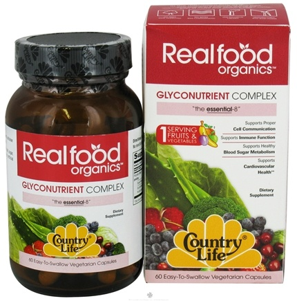 DROPPED: Country Life - Real Food Organics Glyconutrient Complex - 60 Capsules