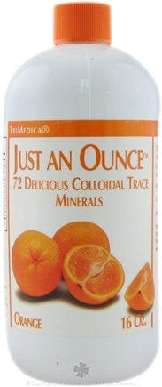 DROPPED: Trimedica - Just An Ounce Trace Minerals Orange - 16 oz. CLEARANCE PRICED