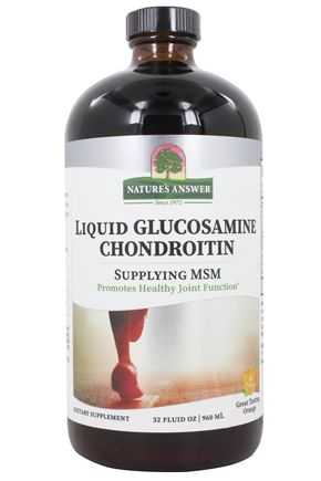 Nature's Answer - Liquid Glucosamine Chondroitin with MSM Orange - 32 oz.