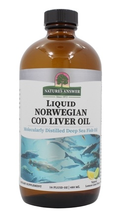 Nature's Answer - Liquid Norwegian Cod Liver Oil Natural Lemon-Lime - 16 oz.