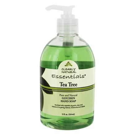 DROPPED: Clearly Natural - Liquid Glycerine Soap with Pump Tea Tree - 12 oz. CLEARANCED PRICED