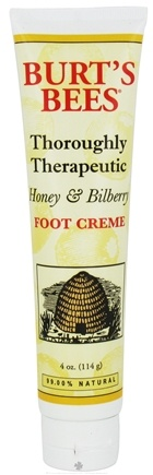 Burt's Bees - Foot Cream Thoroughly Therapeutic Honey & Bilberry - 4 oz.