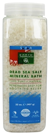 Earth Therapeutics - Dead Sea Salt Mineral Bath 100% Pure & Natural - 32 oz.