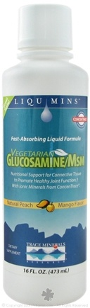 DROPPED: Trace Minerals Research - Glucosamine/MSM Natural Peach Mango - 16 oz.