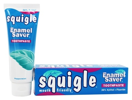 Squigle - Enamel Saver Toothpaste Peppermint - 4 oz.